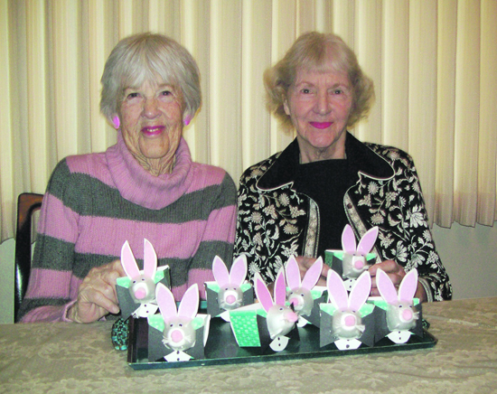 Easter baskets for the elderly frances perry and betsey young ready to present this years easter baskets to residents at lafayette nursing home photo provided negle Images