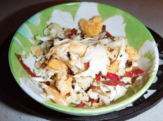 Shaved Cauliflower Salad with Radicchio and Walnuts Photo Susie ...