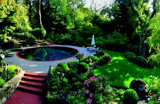 A beautiful orinda garden with a pool photos provided