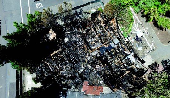 Total devastation in lafayette circle fire - La finestra lafayette ...